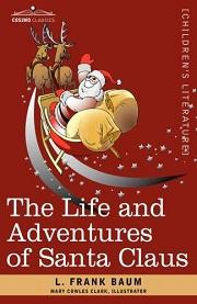 Book cover Santa Claus riding his sleigh