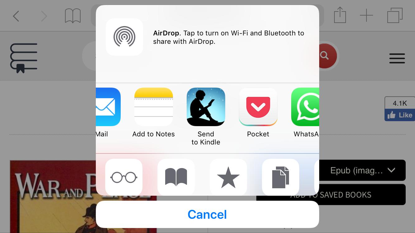 Send to Kindle iOS