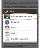 Send to Kindle for Android send