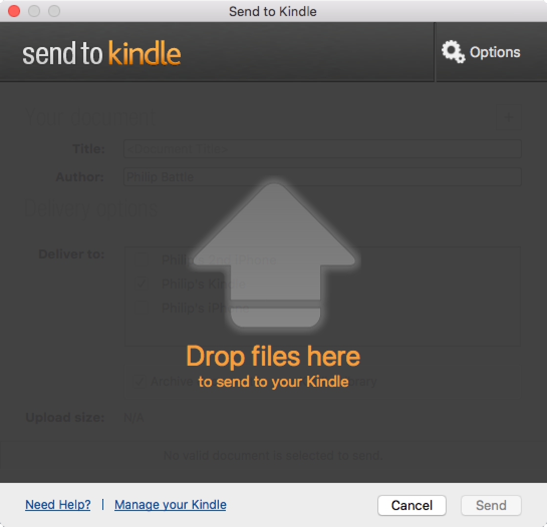 Send to Kindle for Mac