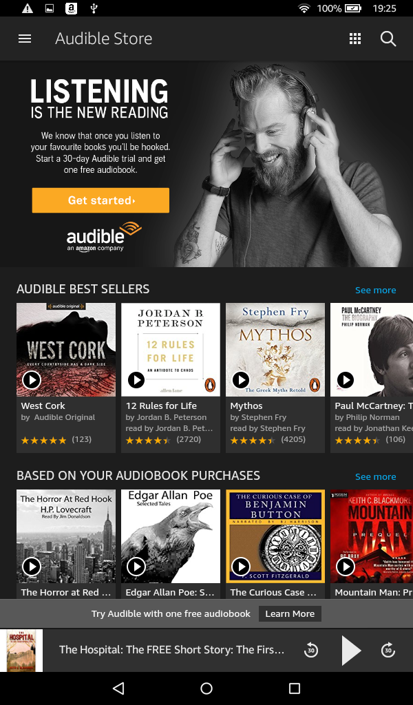 Fire Audible store